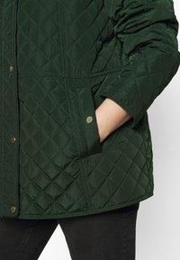 Lauren Ralph Lauren Woman - CREST QUILTED JACKET - Light jacket - hunter green - 4