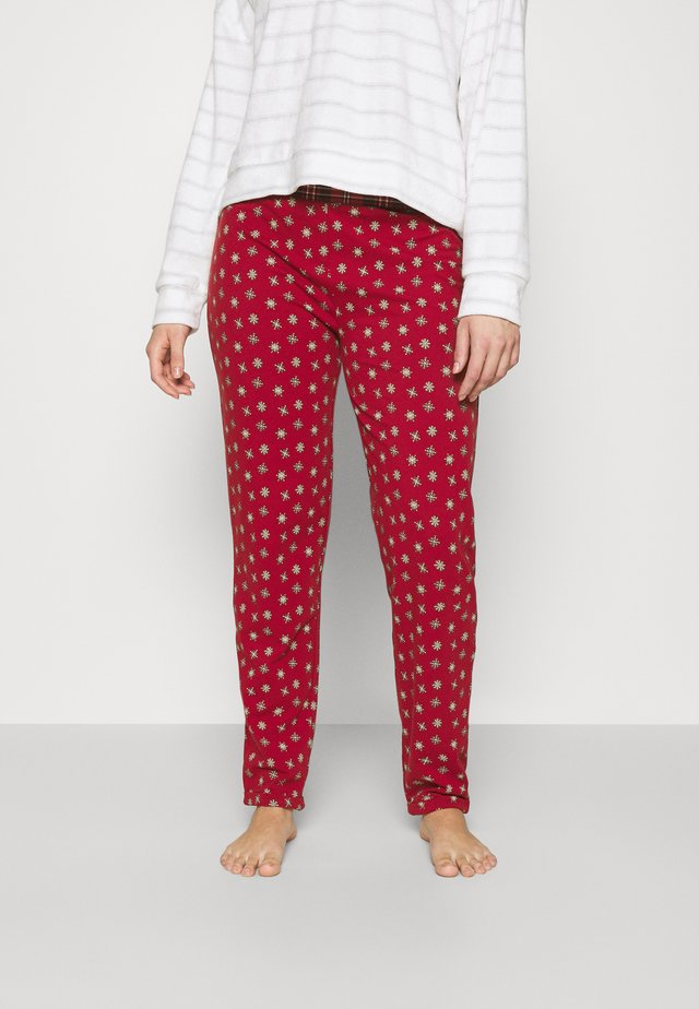 HOSE LANG PYJAMA PARTY - Pyjamabroek - red snowflake