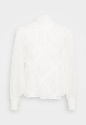 CROSS HATCH LACE TRIM BLOSUE - Blouse - ecru