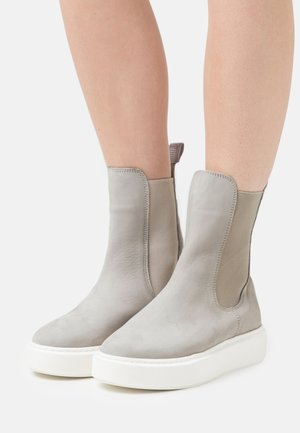 Platform ankle boots - soft grey