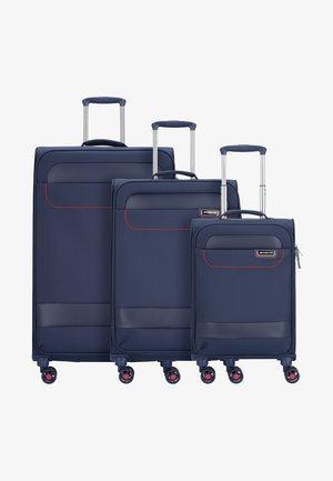 SET - Luggage set - navy/red