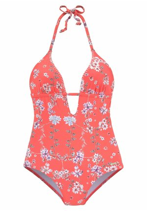 Swimsuit - orange-bedruckt