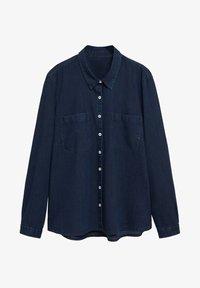 Violeta by Mango - ESTRELLA - Button-down blouse - intenzivní tmavě modrá - 4