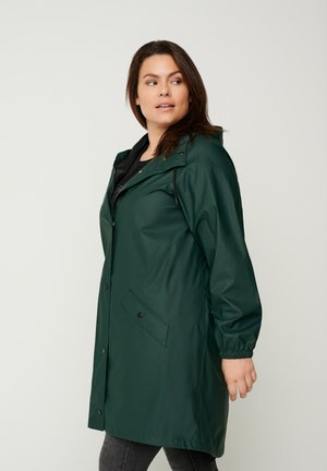 WITH A HOOD - Waterproof jacket - green