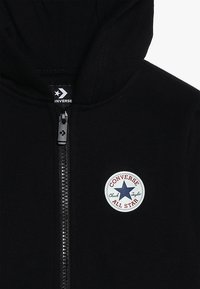 Converse - CHUCK PATCH FULL ZIP HOODIE  - Felpa aperta - black - 4