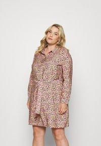 Vero Moda Curve - VMELLIE SHORT DRESS - Shirt dress - geranium pink - 0