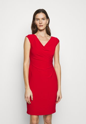 MID WEIGHT DRESS - Etui-jurk - lipstick red