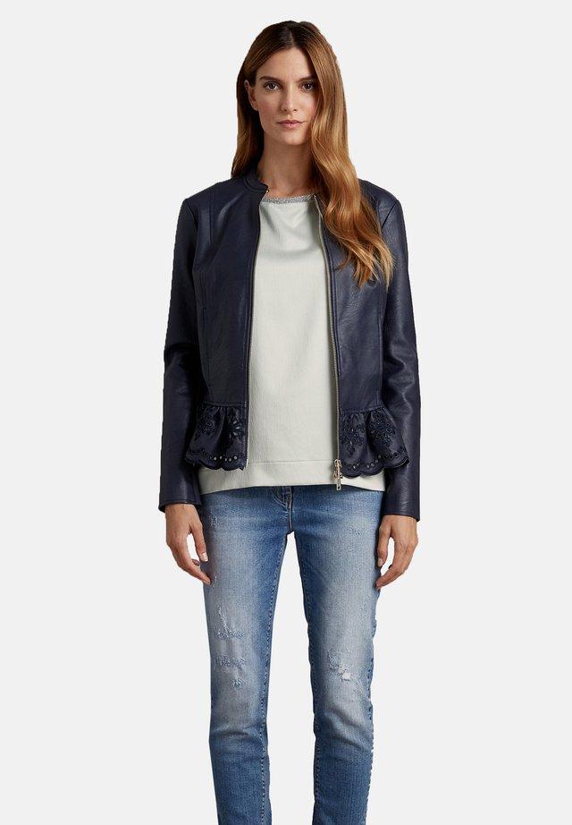 Faux leather jacket - blu