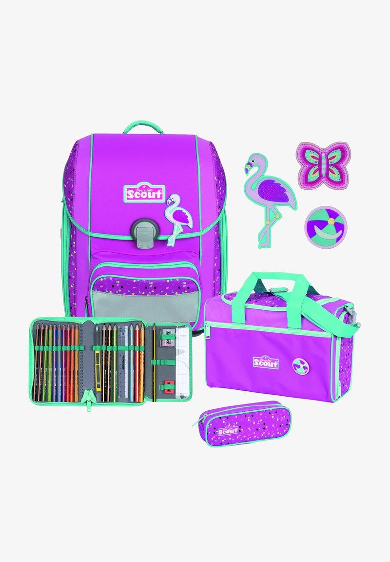 Scout - SET - Schooltas set - flamingo
