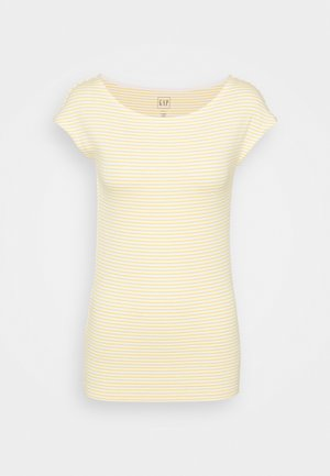 BATEAU STRIPE - Print T-shirt - yellow stripe