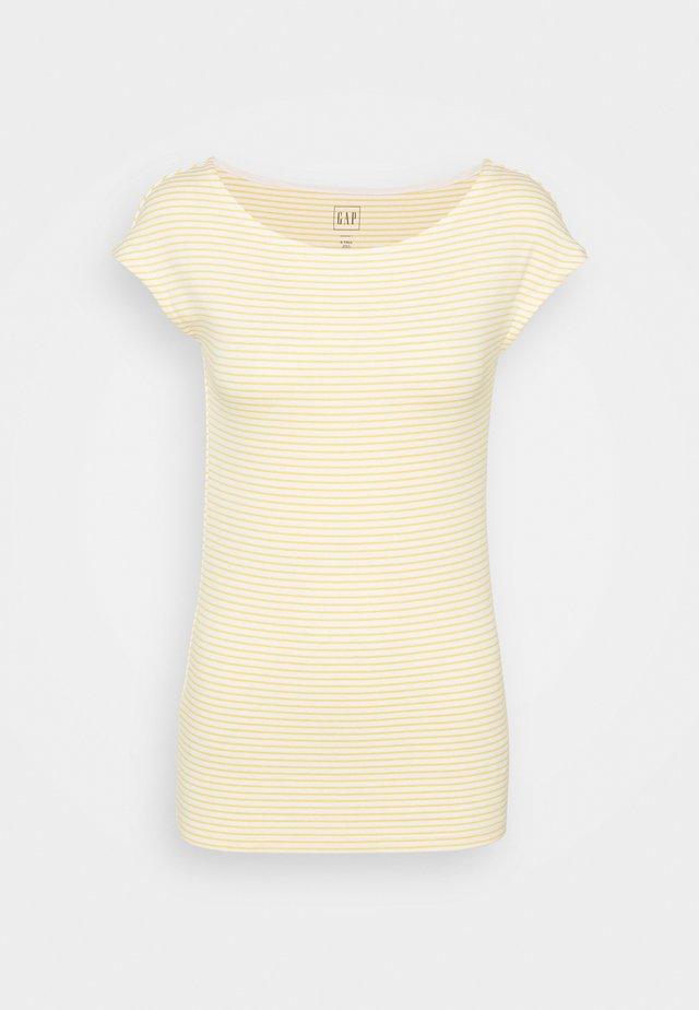 BATEAU STRIPE - Print T-shirt - yellow stripe