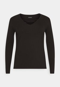 Even&Odd Curvy - Long sleeved top - black - 3