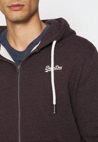 Superdry - ORANGE LABEL - Zip-up hoodie - autumn blackberry marl - 4