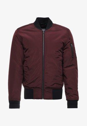 Bomber Jacket - burgundy/black