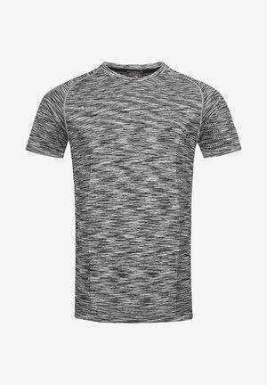 Print T-shirt - black opal melange