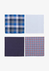 Burton Menswear London - MIX HANKIE SET 4 PACK - Other - blue