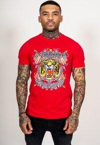 Ed Hardy - TIGER LOS T-SHIRT - Print T-shirt - red - 0