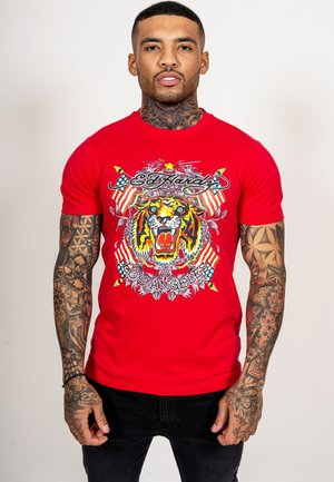 TIGER LOS T-SHIRT - Print T-shirt - red