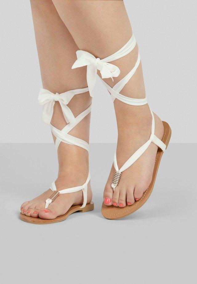 T-bar sandals - weiss