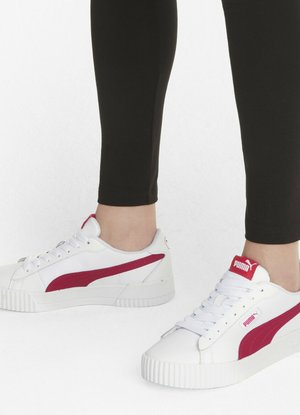 CARINA CREW  - Sports shoes - puma white virtual pink