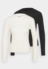 SAMINA 2 PACK - Long sleeved top - white/black