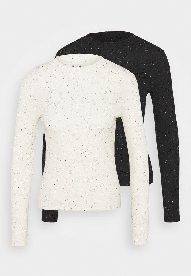 SAMINA 2 PACK - Maglietta a manica lunga - white/black