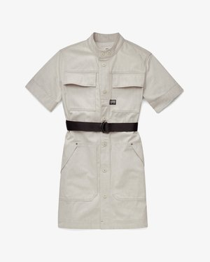SHIRT DRESS SHORT SLEEVE - Vestito di jeans - ecru