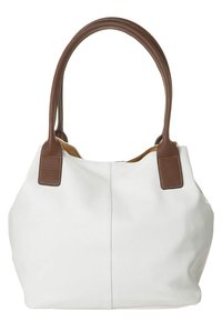 TOM TAILOR - MIRIPU - Handbag - white/camel - 1