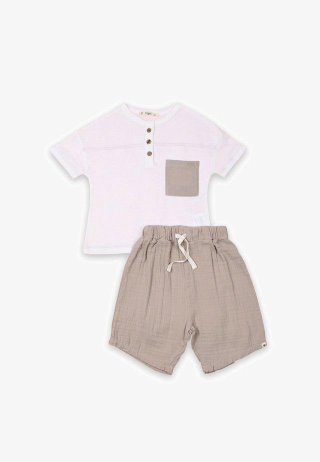 SET - Short - off-white/brown