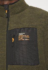 Brave Soul - LITHIUM - Summer jacket - khaki/jet black/orange - 5