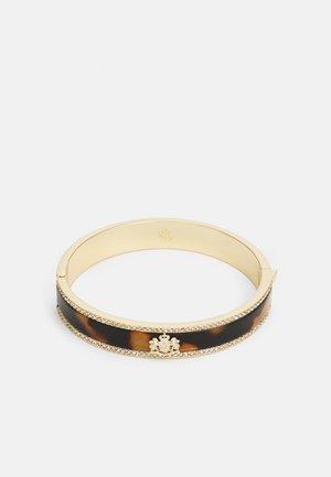 CREST BANGLE - Bracelet - gold-coloured/tort
