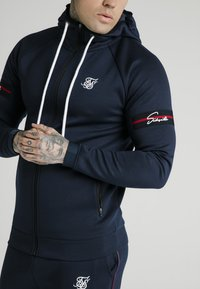 SIKSILK - EXPOSED TAPE ZIP THROUGH HOODIE - Hoodie met rits - navy