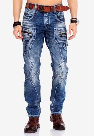 Straight leg jeans - taba