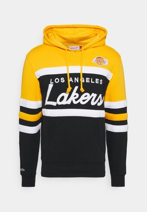 LOS ANGELES LAKERS HEAD COACH HOODY - Sweat à capuche - gold/black