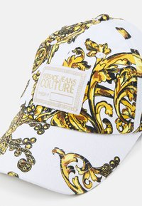 Versace Jeans Couture - BASEBALL WITH CENTRAL SEWING UNISEX - Cap - bianco/gold - 3