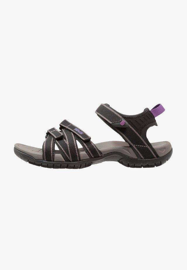 TIRRA - Chodecké sandály - black/grey