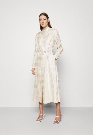 BECCA - Day dress - beige check