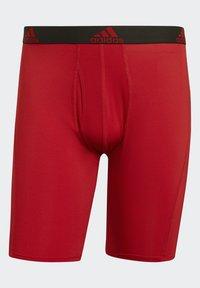 adidas Performance - BRIEF 2 PACK - Pants - black/scarlet - 1