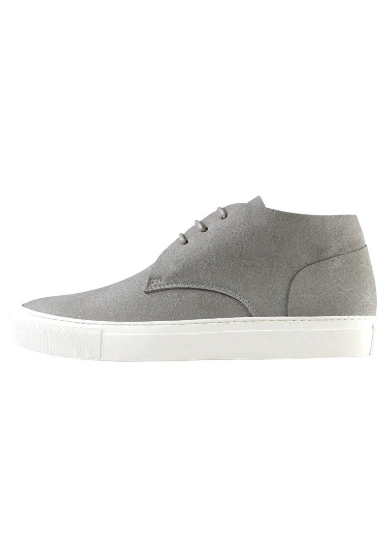 EKN Footwear - SCHNÜRSCHUH MAPLE MID GREY VEGAN - Casual lace-ups - grey