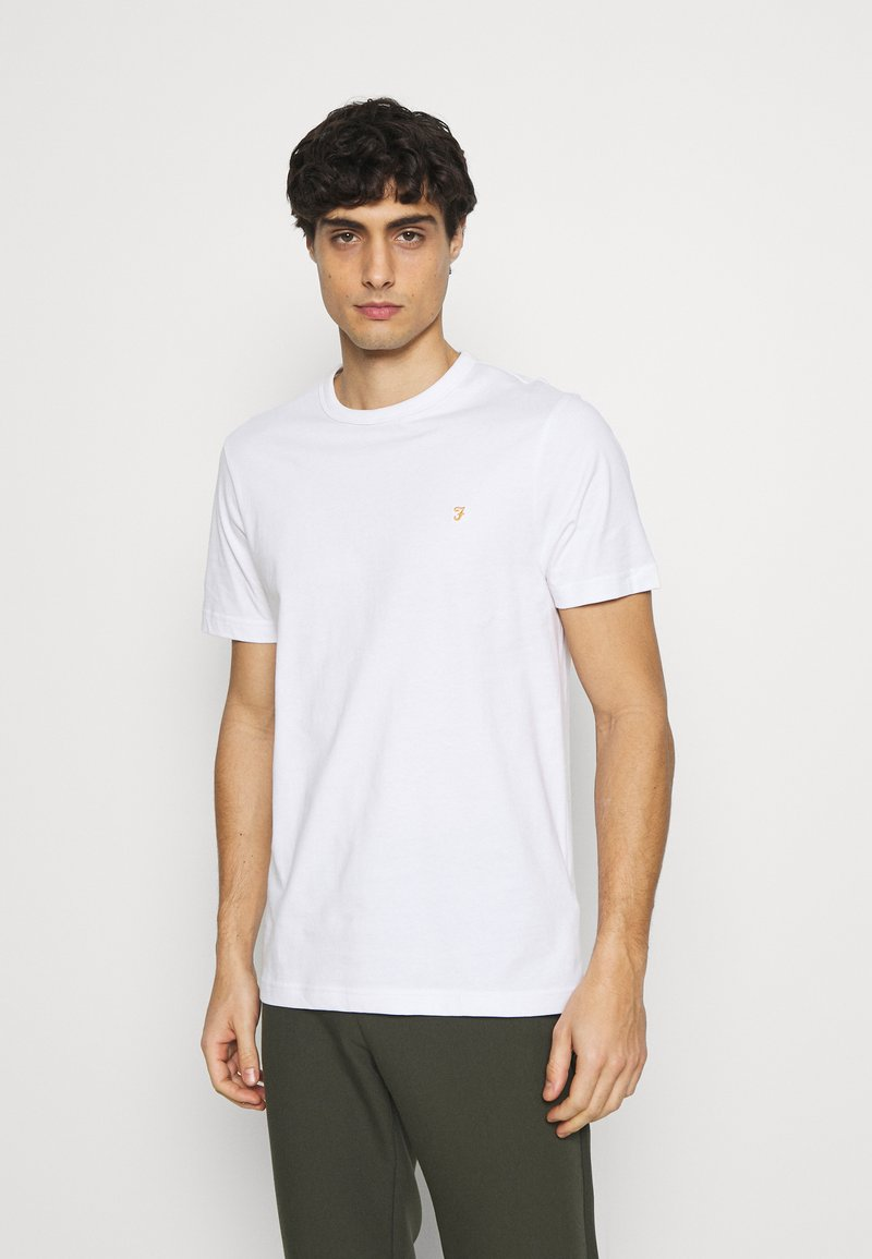 Farah - DANNY TEE - Basic T-shirt - white