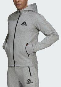 adidas Performance - M MT FZ HD - Zip-up sweatshirt - grey - 6