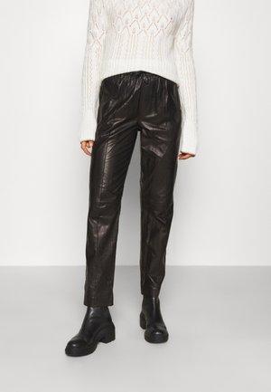 IDRIS PANT  - Lederhose - black
