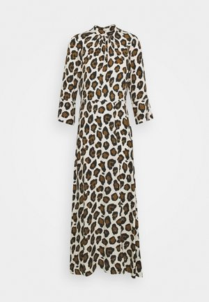 CLOSET HIGH NECK FRONT SLIT DRESS - Vestito estivo - brown
