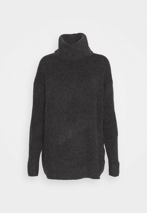 VIHANNA ROLLNECK - Jumper - dark grey melange