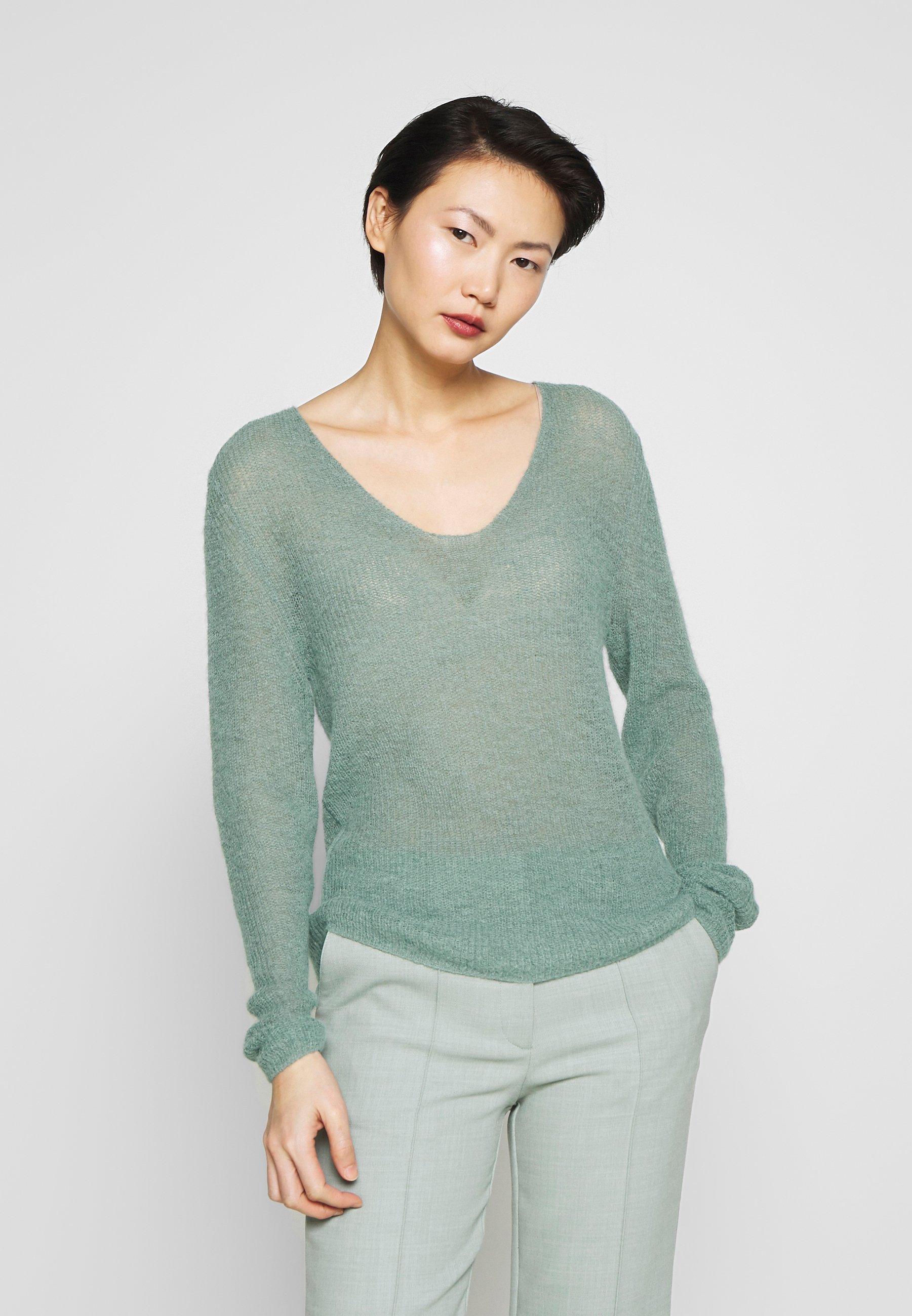 CAMELIA Stickad tröja light green