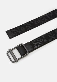 Calvin Klein Jeans - SLIDING BAR WEBBING - Belt - black - 1