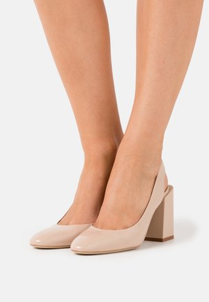 BLOCK SLING BACK - High heels - ballerina