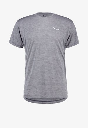 PUEZ DRY TEE - Basic T-shirt - quiet shade melange
