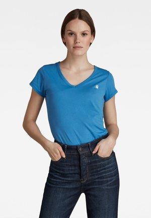 EYBEN SLIM  - Basic T-shirt - river blue
