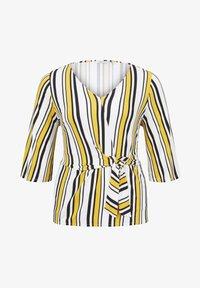 MY TRUE ME TOM TAILOR - WRAP - Long sleeved top - black yellow stripe - 5